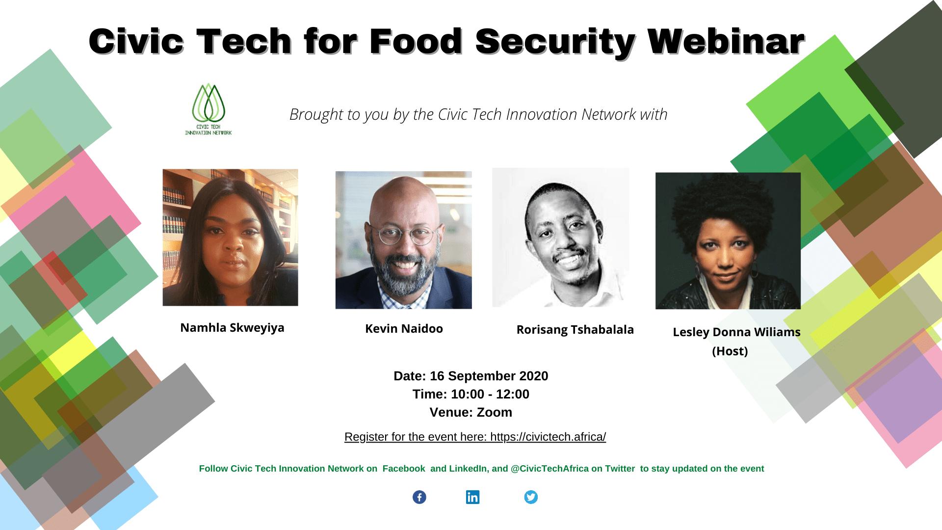 Civic Tech for Food Security Webinar